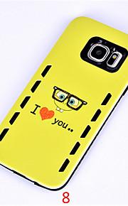 2 i 1 Rilievo farvet tegning eller mønster til Samsung Galaxy s7 / s7edge smart cover (assorterede farver)