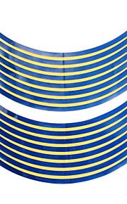 18x 10mm Car Motorcycle Wheel Hub Rim Reflective Tape Stripe Decal Sticker Blue