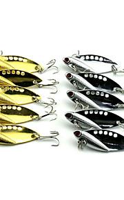 10pcs Hengjia New Color Metal VIB Baits/Vibration  50mm 11g Fishing Lures Random Colors