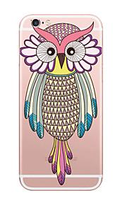 아이폰에 대한 사랑스러운 올빼미 스타일 패턴 소프트 TPU 전화 케이스 (6) / 기가 / 6 플러스 / 6S 플러스