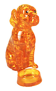 os novos blocos de cristal 3D Puzzle quebra-cabeça do filhote de cachorro tridimensional dos blocos de cristal golden retriever