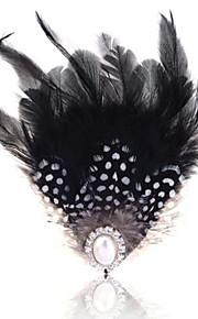 sommer smykker perle fjer broche for kvinder