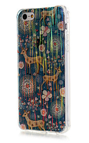 Luxury Brushed TPU Deer Pattern The Drill Phone Shell Drop Resistance for iPhone SE/5/5S
