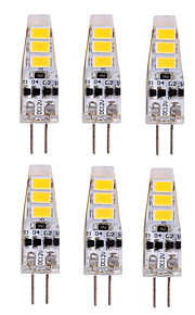3W G4 LED-lamper med G-sokkel T 6 SMD 5730 500-700 lm Varm hvit / Kjølig hvit Dekorativ DC 12 V 10 stk.