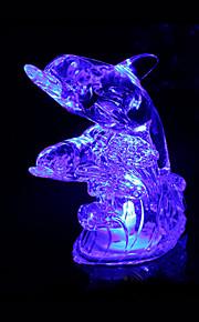 kreative fargeskiftende abs dyr krystall nattlys (assortert farge)