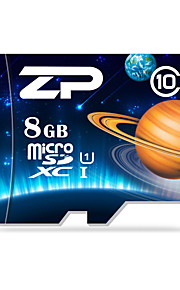 ZP 8GB Clase 10 / UHS-I U1 MicroSD/MicroSDHC/MicroSDXC/TFMax Read Speed80 (MB/S)Max Write Speed20 (MB/S)