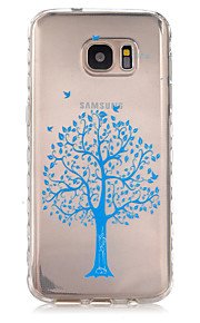 Blue Trees Pattern Slip TPU Phone Case For Samsung Galaxy S7/S7 edge