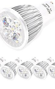 5 stk. HRY GU10 / E26/E27 10W 5 Høyeffekts-LED 800 lm Varm hvit / Kjølig hvit MR16 Dekorativ LED-spotpærer AC 85-265 V