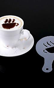 16pcs making fancy kaffe plast trykning model minimalistisk design støvning pad