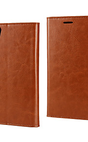 lado del aceite de cuero funda cartera de negocios para r9 OPPO (colores surtidos)