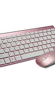draadloze 2.4ghz office gaming toetsenbord 2400dpi muis en accu's 3 stuks een set