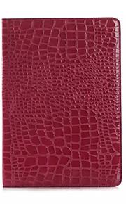 mode hög kvalitet tunna krokodil läderfodral för ipad luft 2 Smart Cover med stativ alligator mönstrar fallet