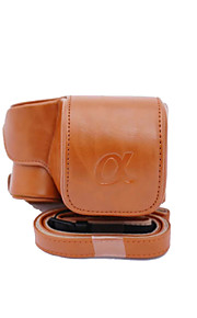 Dengpin PU Leather Camera Case Bag Cover for Sony ILCE-6300 A6300 16-50 Lens (Assorted Colors)