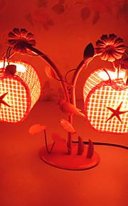 kreative to eple lampe soverom nattbordlampe belysning lamper av europeisk romantisk personlighet gave (tilfeldig farge)