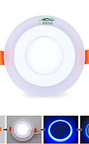 1개 Zweihnder 6W 10 SMD 2835 600 lm 내추럴 화이트 / 블루 밝기 조절 / 장식 천장 조명 AC 85-265 V