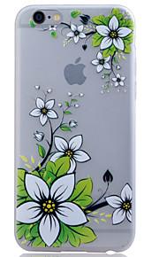 TPU material lyser i mörkret genomskinlig grön blomma lättnad mjukt skydd ringer fallet för iphone 6 / 6s / 6 plus / 6s plus