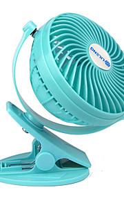 clip usb fans met oplaadbare batterij kan draaien (verschillende kleuren)