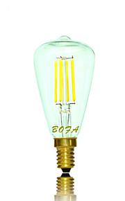 1 stk. NO E14 / E12 2W 2 COB 100-200 lm Varm hvit Tube Dimbar / Dekorativ LED-globepærer AC 220-240 / AC 110-130 V