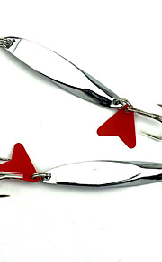 Hengjia 5pcs Spoon Metal Fishing Lures  66mm 18g Spinner Baits Random Colors