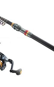 3.6 Carbon Sea Fishing Medium Fishing Rod & Reel Combos Fishing Reel  YB2000 Spinning Fishing Reels