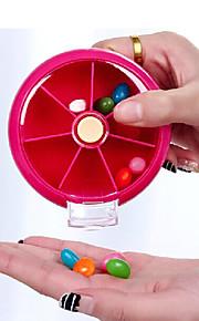 Porta-Comprimidos para Viagem Portátil para Acessórios de Emergência para Viagens Plástico-Laranja Pêssego Vermelho Rosa Verde Azul