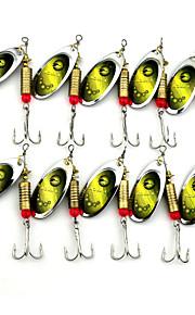 Hengjia 10pcs Deluxe Quality Spoon Metal Fishing Lures 70mm 8.8g Spinner Baits Random Colors
