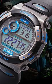 relógio mostrador redondo relógio ocasional alça de pu digitais relógio de pulso dos homens Pasnew (cores sortidas)