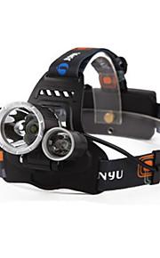 Pandelamper / Forlygte Straps LED 4.0 Tilstand 6000 Lumens Vanntett / Genopladelig / Night Vision Cree XM-L T6 18650