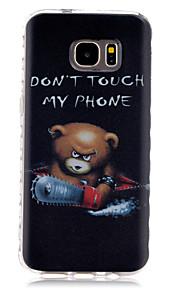 motosega cassa del telefono TPU modello slittamento dell'orso per la galassia S7 / s7 bordo
