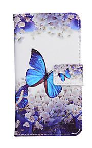 telefon tilfælde mode farvet drawed kort slots holder stå flip pung læder cover til Samsung Galaxy a3 (2016)
