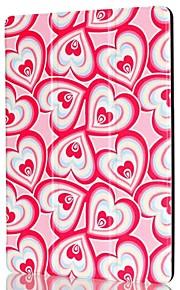 9,7 tum trippel fällbara mönster färgutskrifter PU läder för ipad pro 9,7 (blandade färger)