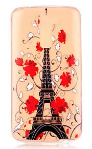 цветочным узором сафлоровое башни тиснением чехол для LG K7 / K10