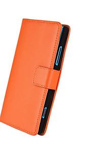 caja de cuerpo completo cuero genuino patrón de color sólido con el soporte y la tarjeta de la ranura para lumia 920