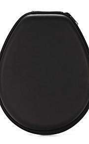 noir classique pu étui de rangement boîte de sac de casque pour casque de sport bluetooth 20 * 16 * 4cm