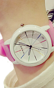 unisex relógios simples crianças da forma do relógio doce de cor relógio de sílica gel relógio de quartzo relógio de pulso Mulher montre