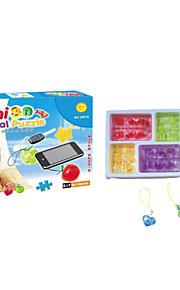 blocos de construção de cristal pavilhão 3D Puzzle DIY brinquedos educativos criativos brinquedos pequenos crianças