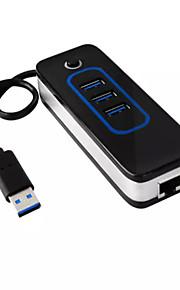 IHUB-04 3-Port USB 3.0 Turn 3 USB3.0 With Gigabit Network Port