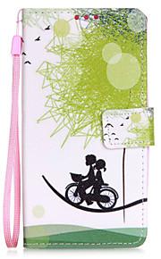 cykel elskere pu mobiltelefon hylster med kort slot til lg K7
