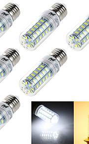 6 stk. YouOKLight® E14 / E26/E27 4W 48 SMD 5730 250 lm Varm hvit / Kjølig hvit T Dekorativ LED-kornpærer AC 220-240 / AC 110-130 V