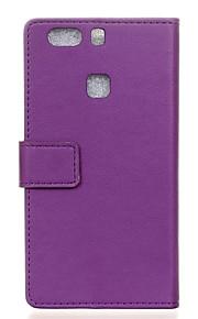flip cover tegnebog stil med kort slot til Huawei p9 plus tilfælde mode cass mønster tekstur korn tilfælde