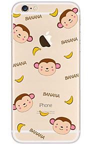 kakashi schattige dieren patroon TPU schilderij zachte hoes voor de iPhone 6s / 6 / 6s plus / 6 plus (banaan party)