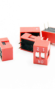 2-digit DIP Switch - Red + White (5 PCS)