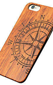 Ultra Thin Wooden Big Compass Protective Back Cover Hard iPhone PC Case  for iPhone 6s Plus/6 Plus/iPhone 6s/iPhone 6