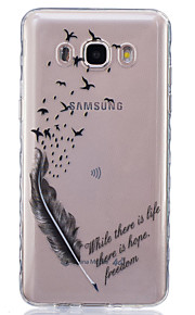 Bird Feathers Painted Pattern TPU Material Phone Case for Galaxy J1/J1ACE/J120/J2/J3/J5/J510/J7/G360/G530/G850