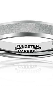 Unsex Båndringe,Smykker Sølv Moderigtig / Vintage Bryllup / Party / Daglig / Afslappet Wolfram stål 1pc,7 / 8 / 9 / 10 / 11 / 12 / 13