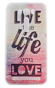 TPU materiaal liefde en het leven geschilderd patroon zachte telefoon geval voor asus zenfone max zc550kl