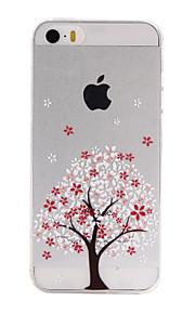 TPU árvores material pattern caso de telefone fino para iphone SE / 5s / 5