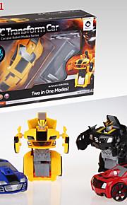 HappyCow Robot Preta / Vermelho / Azul / Amarelo Robô Controle de radio Inglês