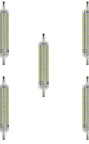 10W R7S LED-kornpærer T 120 SMD 2835 800 lm Varm hvit / Kjølig hvit Dekorativ / Vanntett AC 220-240 V 5 stk.