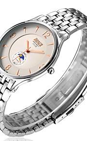 Herre Modeur Quartz Vandafvisende Rustfrit stål Band Armbåndsur Hvid